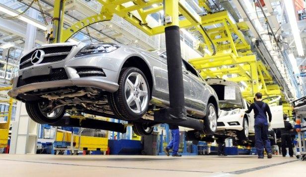 Mercedes Produktion in Sindelfingen