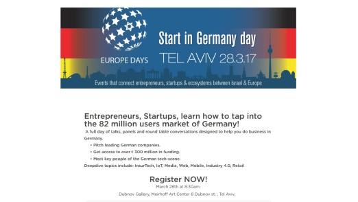 Start in Germany day in Tel Aviv, 16:9, slider