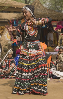 Indian Tribal Dancer Performing