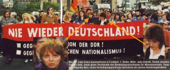 Deutschen Hasserinnen unterstützen antifaschistische Aktionen wie diese Demo, bei dem hasserfüllte Anti Deutsch Parolen ausgerufen wurden